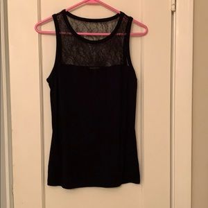 Fitted black lacy tank from Express size small